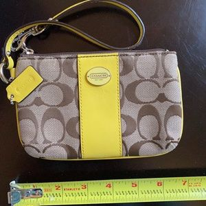 Spring Yellow Coach Wrist Wallet